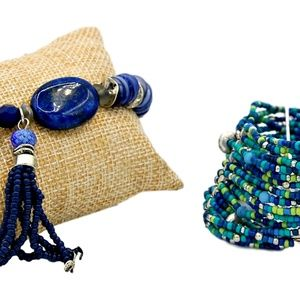 Chico's Tassel and Nina Bracelet Set New With Tags